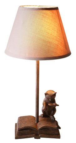 READING CAT LAMP: