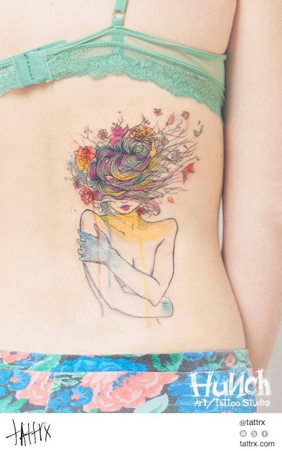 Seleção: 100 tatuagens feitas com técnica de aquarela | Estilo: