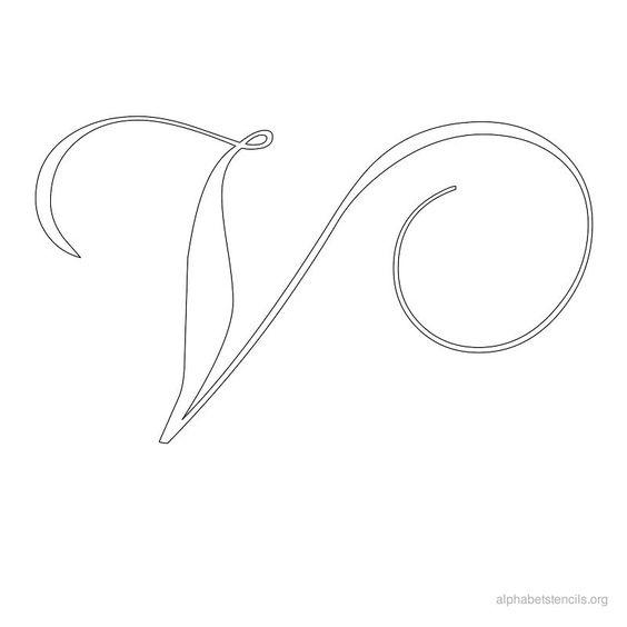 Alphabet stencils calligraphy v ideas pinterest