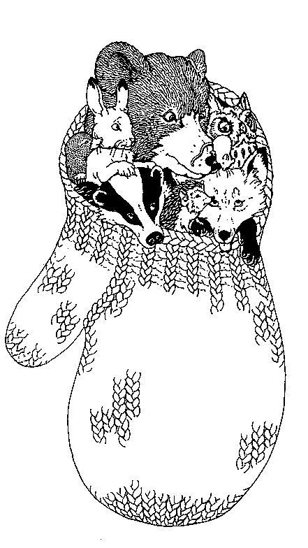 Illustration de l'histoire: la moufle | littérature lecture ...