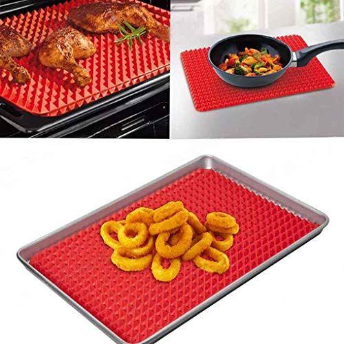 Omkuwlq Silicone Bbq Baking Mat Nonstick Pan Pad Cooking Mat Oven Baking Tray Kitchen Bakeware Gadgets Cooking Mat Silicone Cooking Cooking
