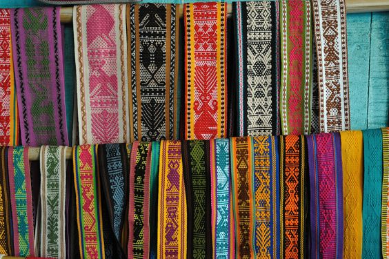https://flic.kr/p/9pn7Kn | Zapotec Weavings Oaxaca | These colorful cotton belts and ribbons are the works of the talented women from the Navarro Gomez family of Santo Tomas Jalieza, Oaxaca Mexico