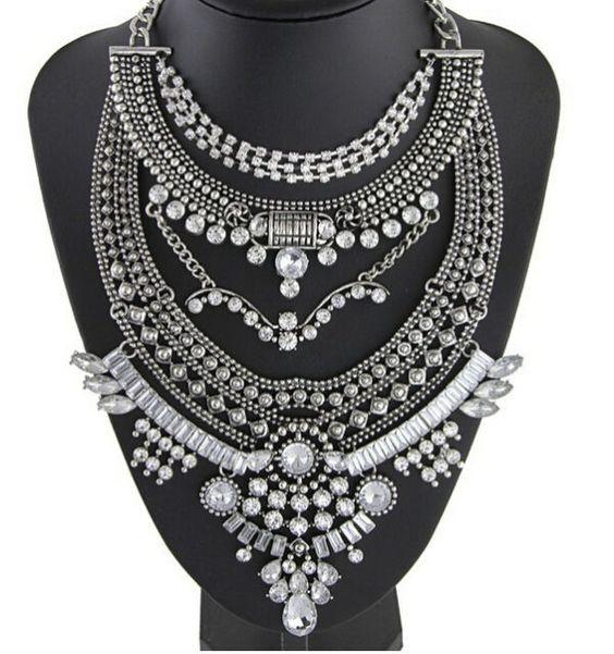 Massive Silver Handmade Chain Coin Necklace