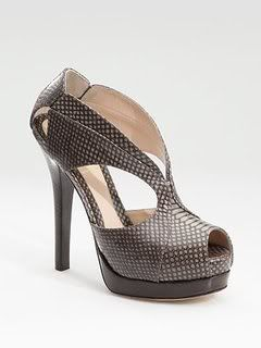 Fendi Crazy in Love Snakeskin Sandals