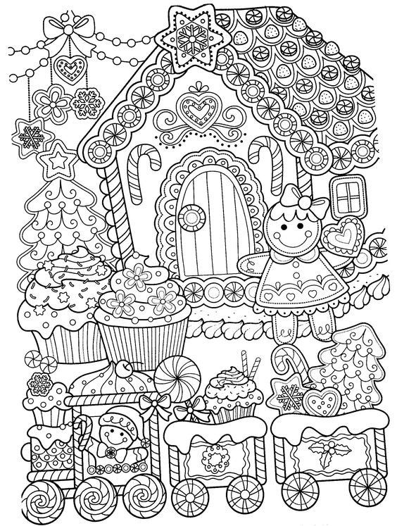 Christmas Coloring Sheets Detailed Design
