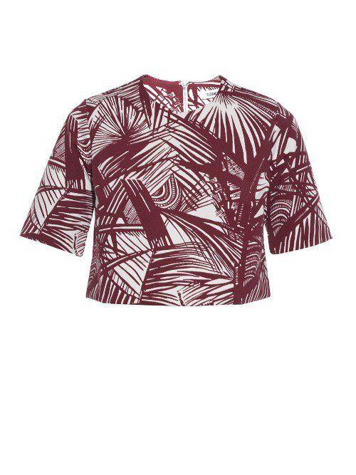"""Pin for Later: Diese Palmen-Prints werden euch in tropische Stimmung versetzen  Elizabeth and James """"Lowell"""" Crop Top mit Palmen-Druck (260 €)"""