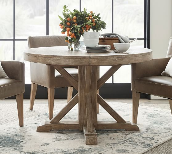 Round Pedestal Dining Table, Round Pedestal Extending Dining Table