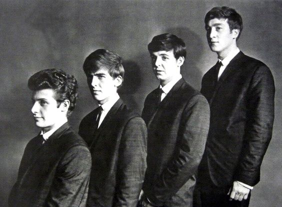"""Pete Best, George Harrison, Paul McCartney, & John Lennon  """"THE SILVER BEATLES"""""""