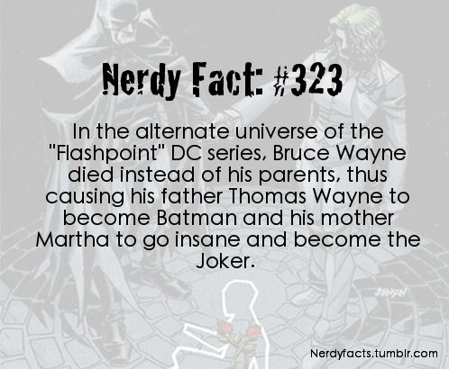 Nerdy Fact #323  Batman - How it Could Have Happened