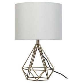 Geometric Metal Small Table Lamp (Includes CFL bulb) - Room Essentials™