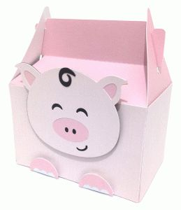 Silhouette Design Store - View Design #58832: cute pig box