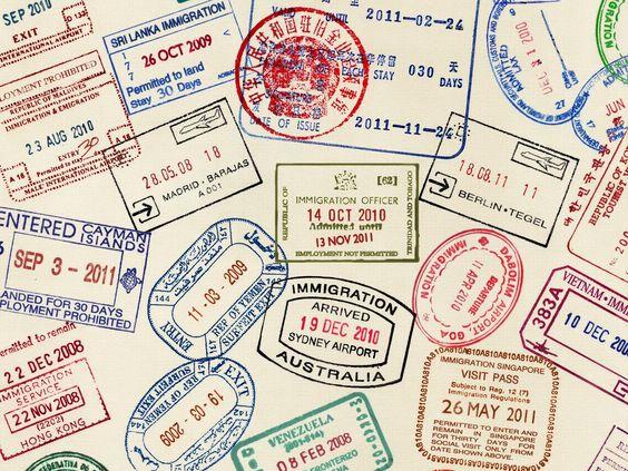 IMAGES PASSPORT STAMPS