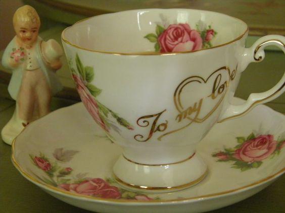 To my love tea cup