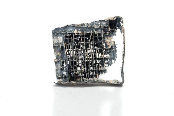 """ Living Ruins I "", brooch, oxidized silver by Anastasia Kandaraki Photo by Orestis Rovakis:"