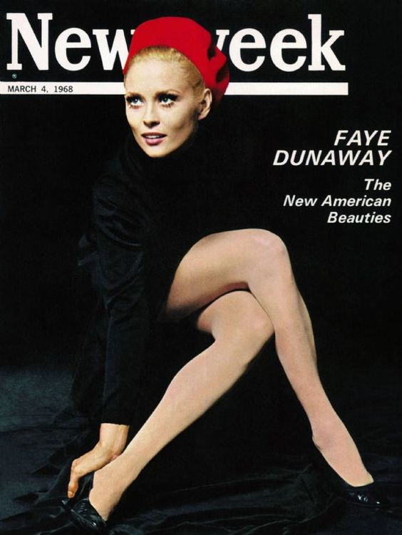 Faye Dunaway on the March 4th, 1968 cover of Newsweek magazine.