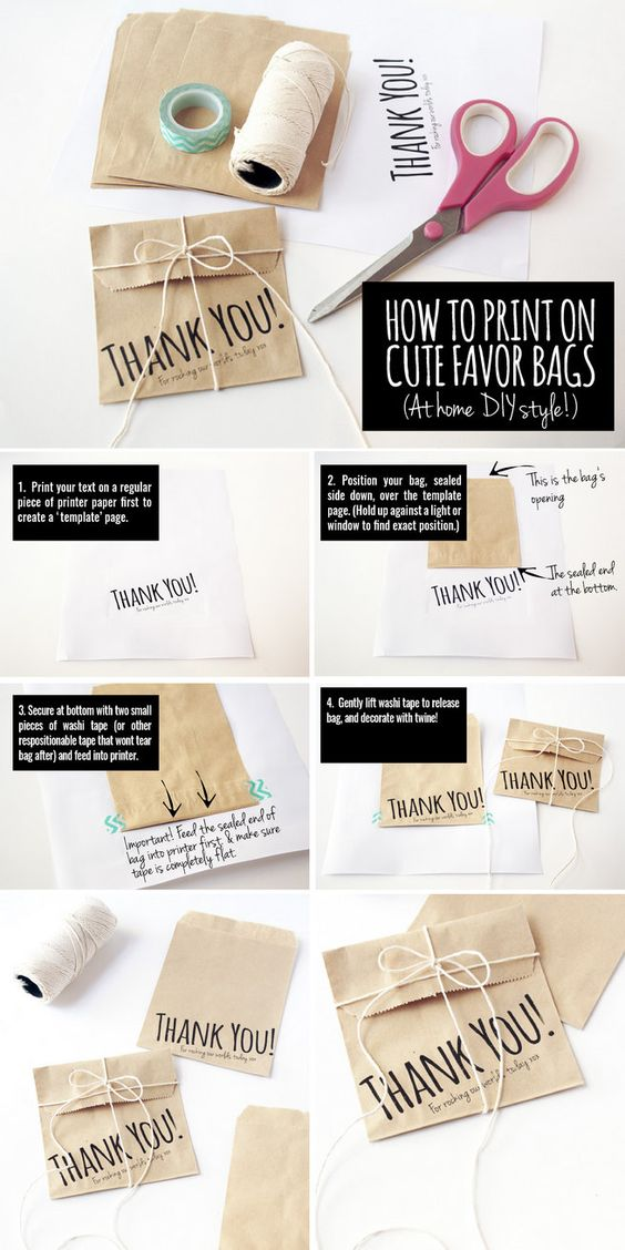 How to Print on Cute Favor Bags at Home, Easily! ♥