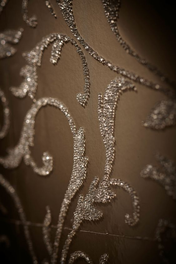 Beaded wallpaper