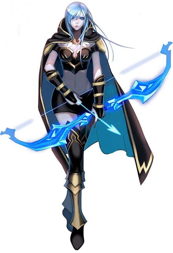 League Of Legends Character Design Contest : Ashe league of legends vg as in very geeky