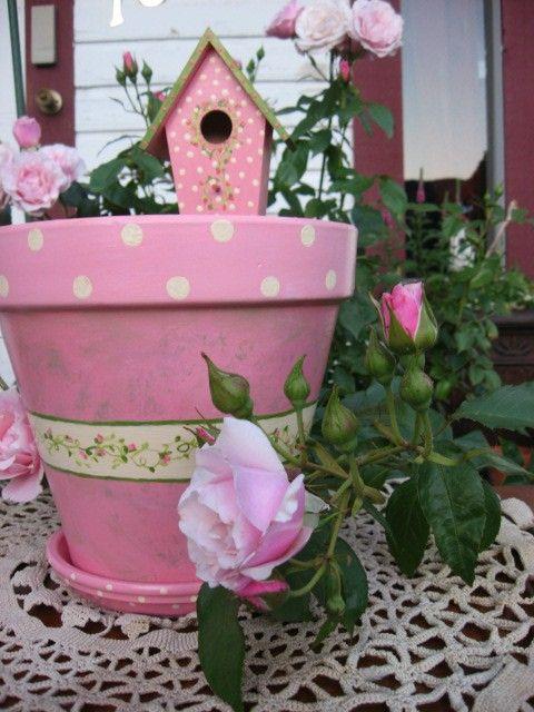 Cute Pot Fairy Outside Gardens Pinterest Painted