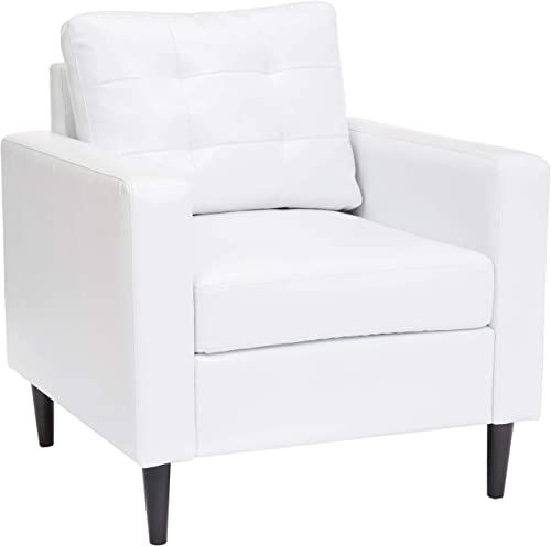 New Red Hook Cascais Faux Leather Accent Chair White Online In 2020 Leather Accent Chair White Furniture Living Room Accent Chairs