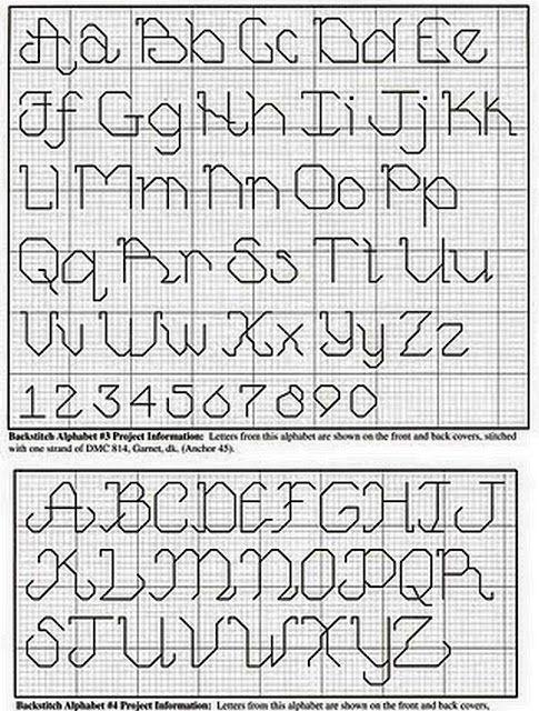 Another alphabet cross stitch patterns