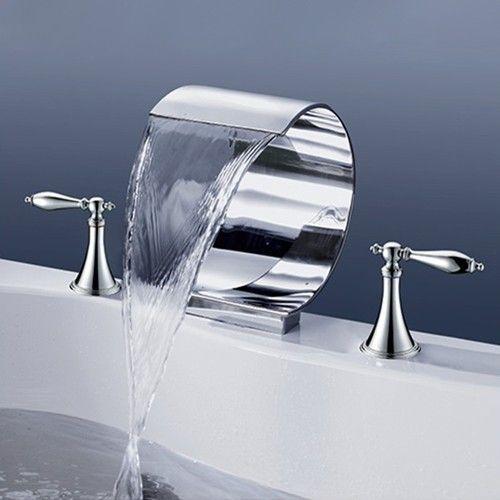 Mooni Waterfall Tub Faucet Modern Elegant Bathtub Tap Waterfall