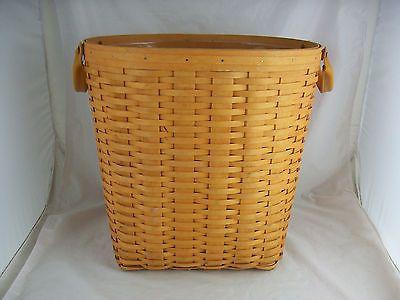 Longaberger 2001 Large Oval Waste Basket w Protector