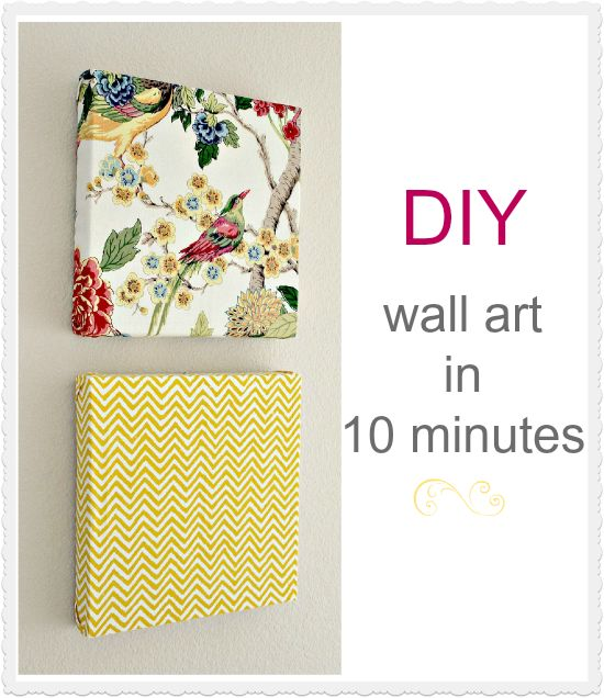 Diy Fabric On Canvas Wall Art : Diy wall art in minutes using napkins great idea for