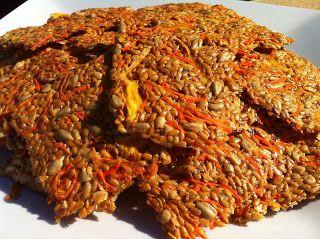 Lau-raw: Crackers de linaza con piña y zanahoria!