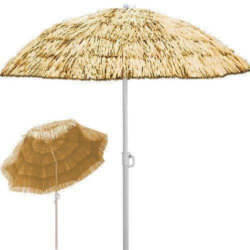 Patio Garden Beach Hawaiian Parasol Outdoor Sun Shade Sun Umbrella Tilting Blue