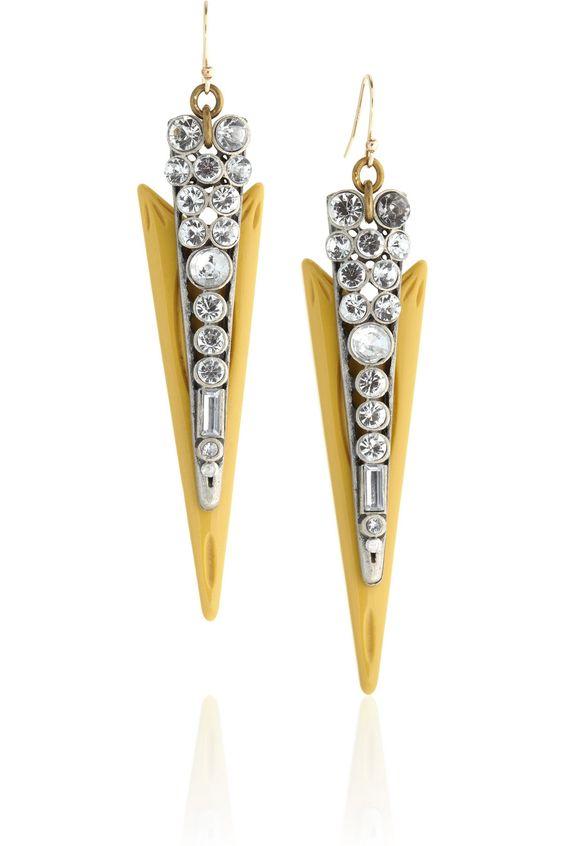 Lulu Frost|Crystal and resin spike earringsDREAMY: