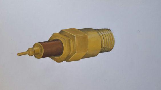 Bougie de moteur gouache
