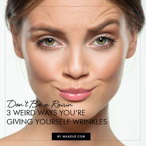 Your skin is delicate - it's easy to get wrinkles! You need to know how these 3 weird ways are giving you wrinkles so you can break the habit.