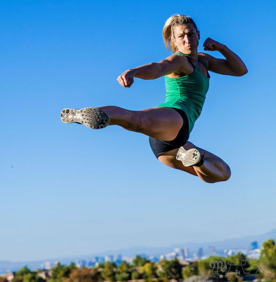 Jessie Graff inspiration, first woman to conquer the warped wall and stage one of the semi finals for ANW. AMAZING