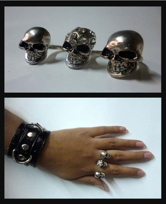 Anillo skull, disponible en Monina accesorios https://www.facebook.com/Monina.store