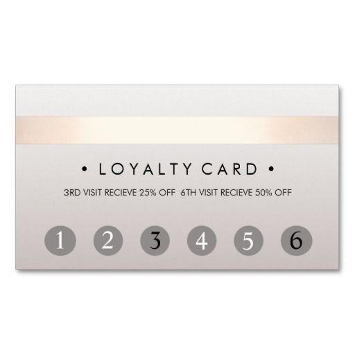 Beauty Salon 6 Punch Customer Loyalty Card Business Card Businesscards Nail Salon Decor Home Nail Salon Beauty Salon Decor