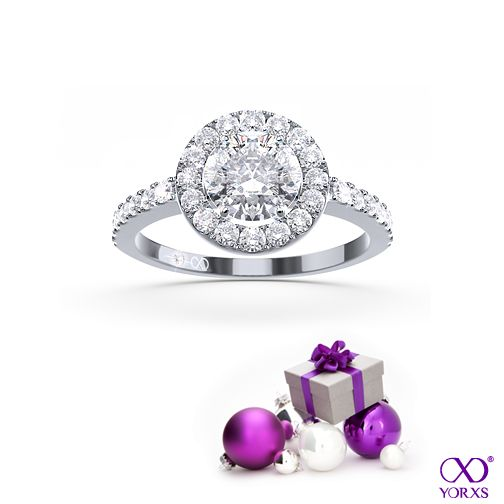 Get into the holiday spirit with this sparkling halo ring. #Diamantring #Yorxs #Geschenk