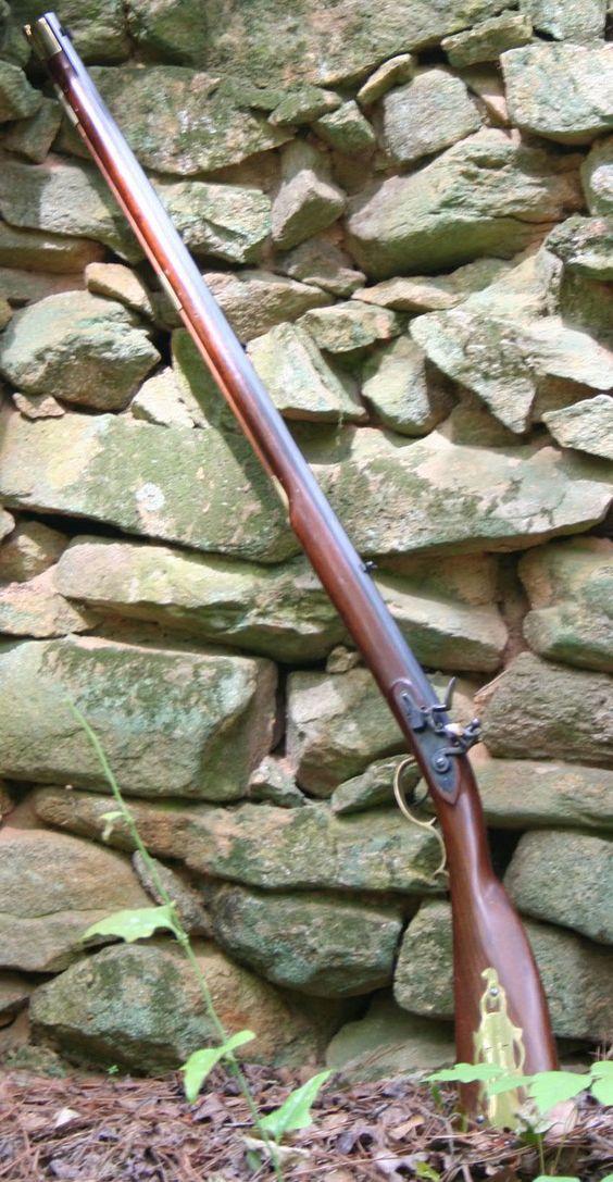 Left handed Kentucky Flintlock Muzzleloading Black Powder rifle.