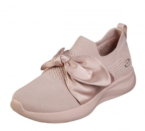 Skechers Bobs Sport Squad Total Glam Ladies Light Pink Memory Foam Trainers