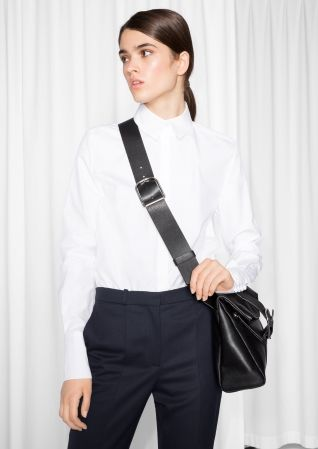& Other Stories Organic Cotton Shirt  in White