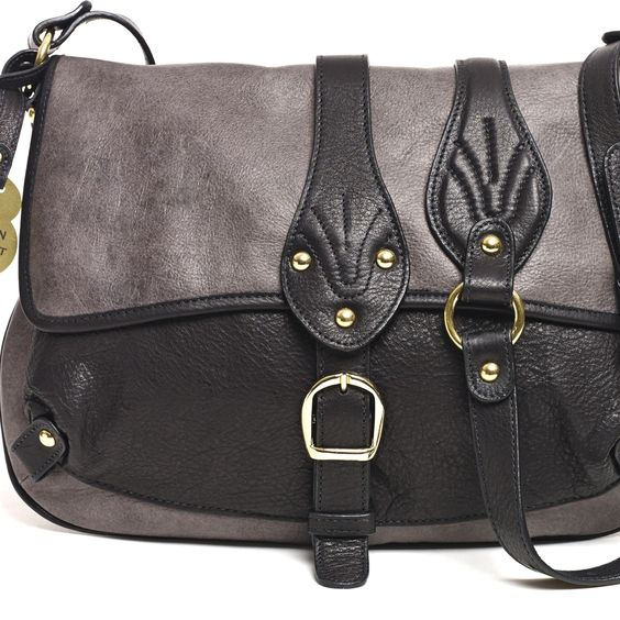 Barnard Crossbody, Charcoal/Black - Hayden-Harnett Handbags & Accessories Online Store