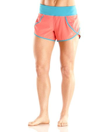 Take a look at this Fiesta Lucky Stripe Momentum Shorts - Women by Moving Comfort on @zulily today!