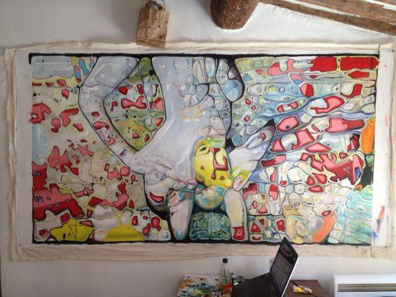 Work in progress Stiouf Allright Miami-Aix en Provence/2013 oil on canvas