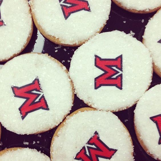"@miamialum's photo: ""Honors open house serving yummy Miami cookies! #MiamiOH"""