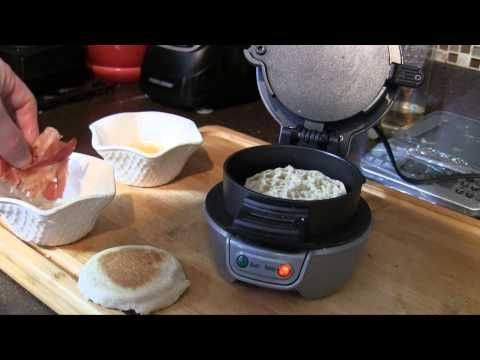 Review and video demo of the Hamilton Beach Breakfast Sandwich Maker.  #Kitchen #Breakfast #CoolGadgets