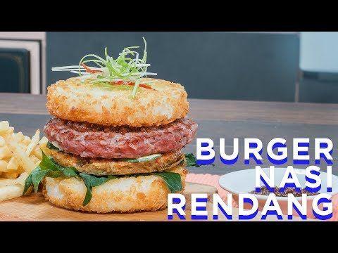 Resep Burger Nasi Rendang Ralali Com Youtube Resep Burger Makanan Dan Minuman Resep Makanan