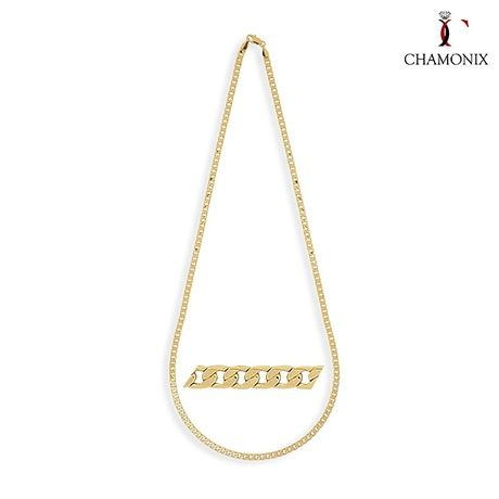 Chamonix Unisex Italian-Made Solid 14kt Gold Cuban Chain Necklace at 75% Savings off Retail!
