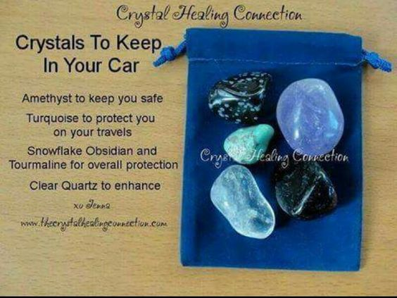 Crystal tips for protection (car)