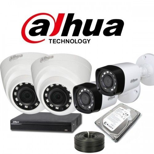 Dahua Cctv Camera 4 Camera With All Accessories Cctv Security Cameras Cctv Camera Cctv Camera Installation