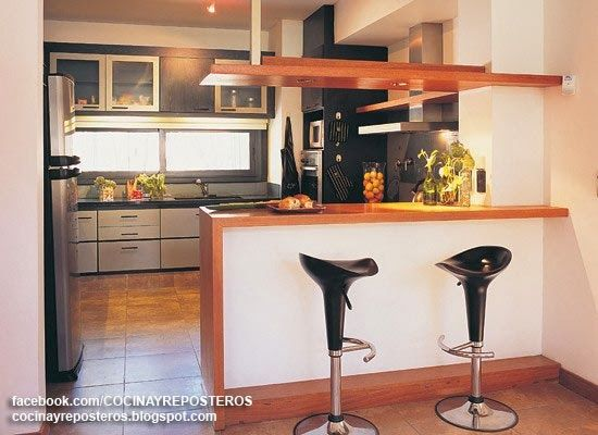 Cocinas con barra cocina y reposteros decoraci n fotos - Decoracion de cocina con vacas ...